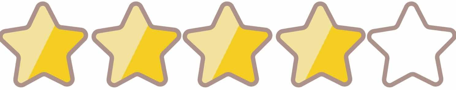 星評価4つ