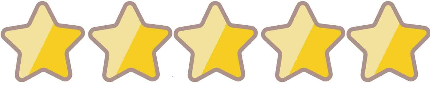星評価5つ