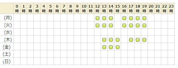 電話占いピュアリ所属の月詠 恋先生のスケジュール