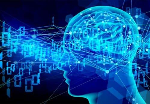 デジタル信号が脳を囲む
