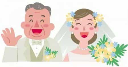 男性が年上との結婚イラスト