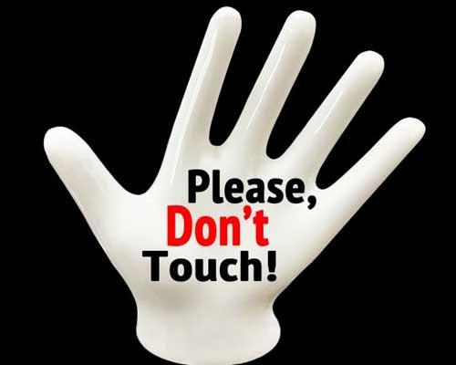 触らないで下さい画像